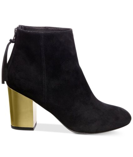 New Steve Madden Womens Cynthiam Zip Up Ankle Bootie Shoes Suede Black 6.5M