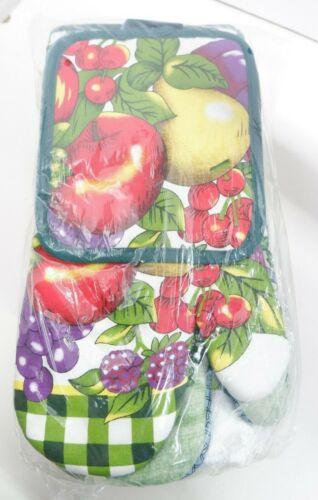 10 pc Microfiber Kitchen Towel Set Mit set pot holderset Ivy Garden /& Fruit