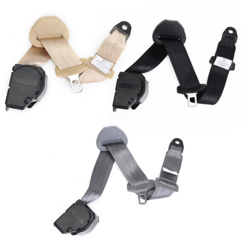 Universal 3 Point Retractable Polyester Car Safety Seat Belts With Warning Cable