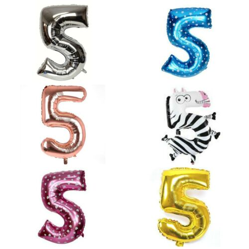 """16/"""" 2nd Birthday Party Number Foil Balloon Air Fill Pink Blue Gold Silver TWO"""