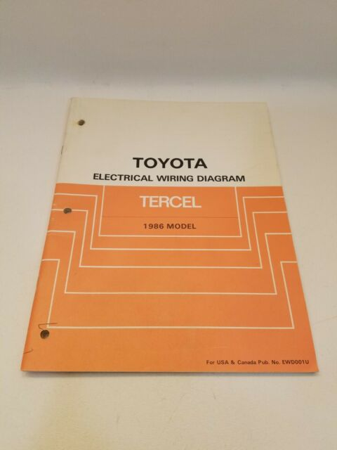 1986 Toyota Tercel Factory Electrical Wiring Diagram