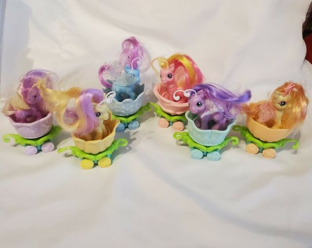 My Little Pony Lot of 6 Breezies, Breezies Parade, with 6 pastel petal cars
