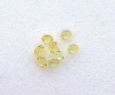 TWO 2mm Round Natural Yellow Sapphire Faceted Gem Stone Gemstone EBS6994
