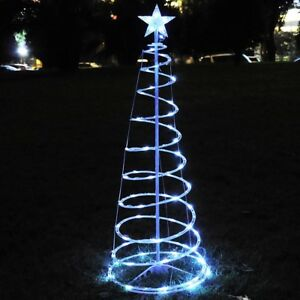 Cool Christmas Tree.Details About 6 Ft Christmas Led Spiral Tree Light Cool White Xmas Holiday New Year Battery