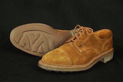 crockett  jones ginger suede cap toe country casual shoes