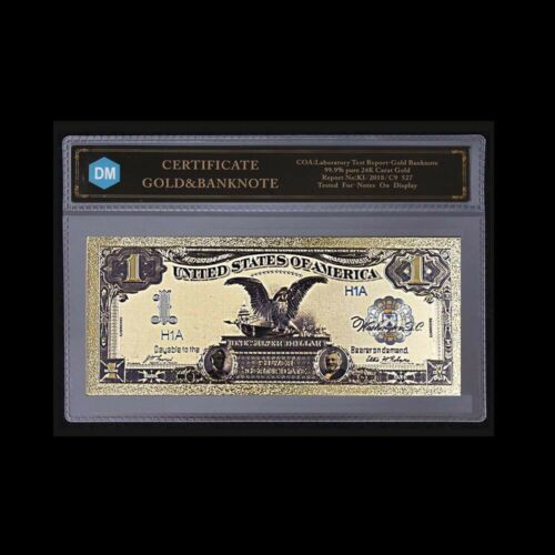 Us Gold Banknote 1899 Year 1 Usd Bill Note Paper Money with COA for Collection