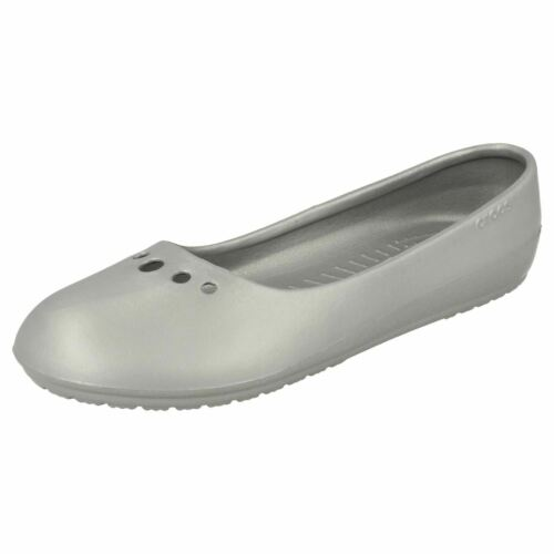 Great Price! Ladies Croc Light Weight Slip On Shoes Prima Silver