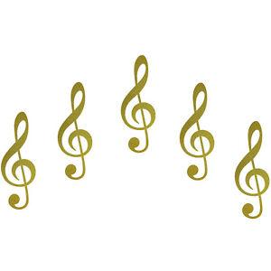 5-autocollants-10cm-Or-Partitions-de-musique-cle-sol-auto-porte-fenetre-tatouage