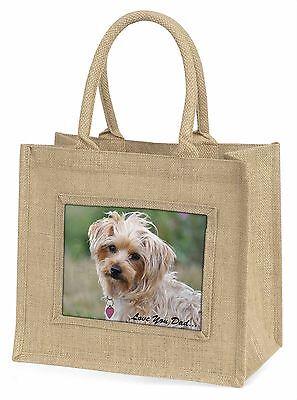 Yorkie Hund' liebe Dich Papa 'Große natürliche jute-einkaufstasche Weihnachten,