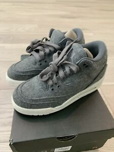 Details about Air Jordan 3 Retro Wool Gs Big Kids 861427 004 Dark Grey Shoes Youth Size 4