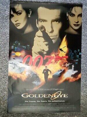 ORIGINAL VIDEO MOVIE POSTER ROLLED GOLDENEYE 1995