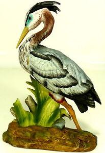 Porcelain-10-034-Heron-Egret-Figurine-Royal-Crown-by-J-Byron-Made-In-Japan