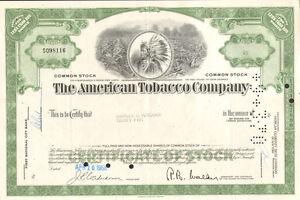 American-Tobacco-Company-gt-Fortune-Brands-cigarettes-stock-certificate-share