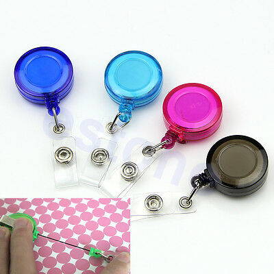 1PC Retractable Ski Pass ID Card Badge Holder  KeyringKey Chain Reels With Clip