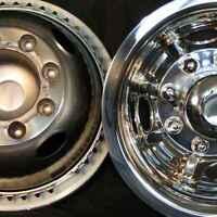 Dodge 16 8 Lug Motorhome Hubcaps Rv Simulators Rear Snap On Stainless Steel