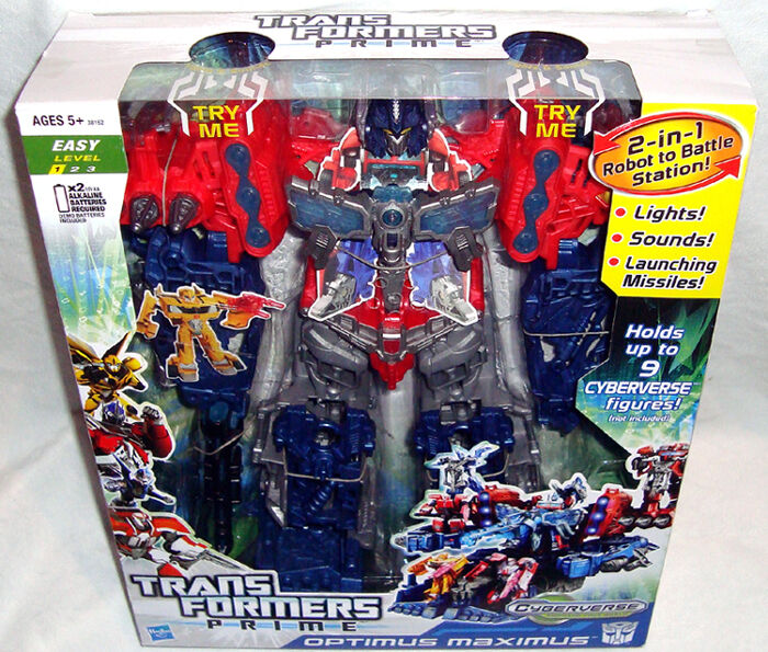 Transformers Prime  Cyberverse Optimus Maximus Action Figure Comme neuf IN BOX lumières & Sounds  en soldes