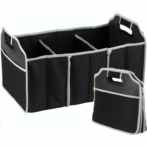 2 in 1 Car Boot Organizer Shopping Tidy Heavy Duty Collapsible Foldable,No Mess