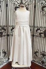 S193 JORDAN L619 SZ 5 D WHITE $140 FLOWER GIRL FORMAL DRESS GOWN