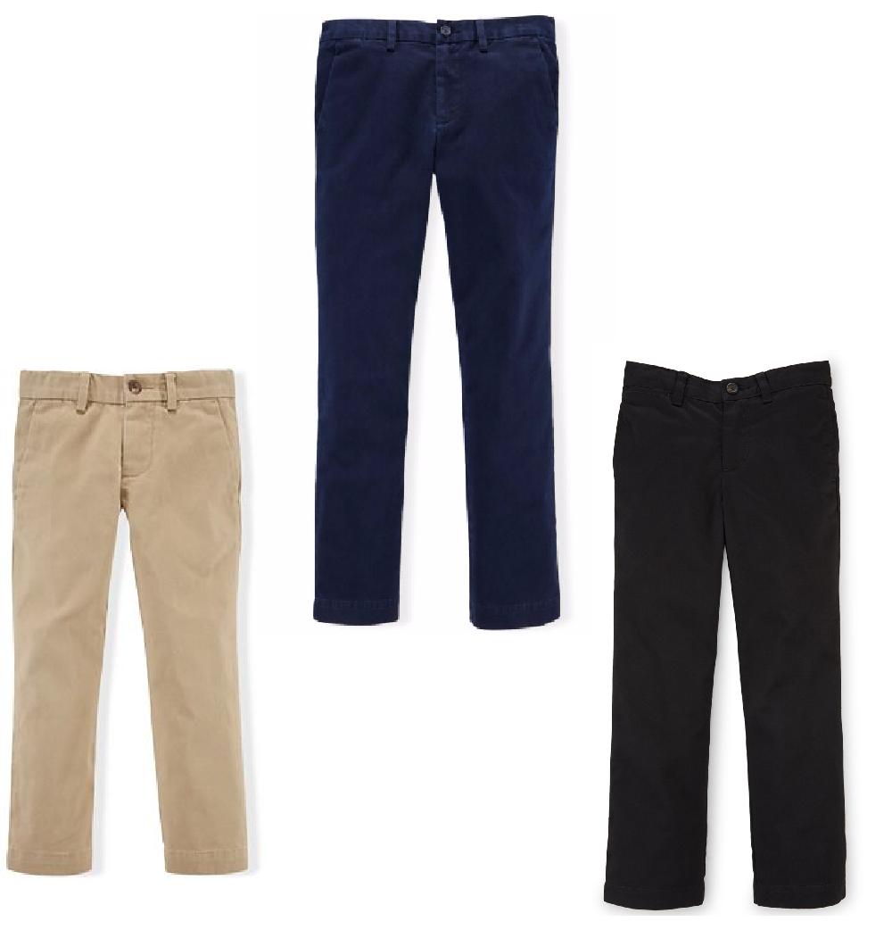 Ralph Lauren Boys/' Military Chino Pants Color Polo Black Size 2//2T