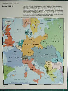 Ww2 Wwii Map Europe 1914 18 The Roots Of War German Empire Balkans