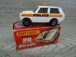 Vintage-Lesney-Matchbox-1975-patrulla-no-20-Rolamatics-Diecast-En-Caja