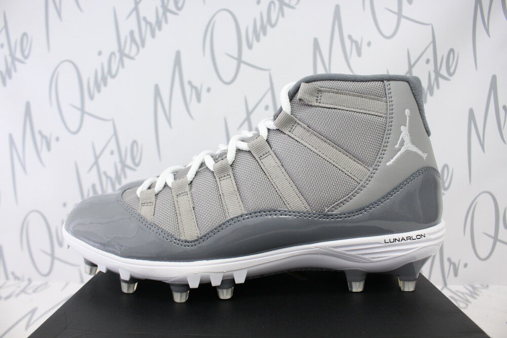 AIR JORDAN XI 11 RETRO XI JORDAN MID TD CLEATS SZ 9 COOL GREY WHITE AO1561 003 ce96ca