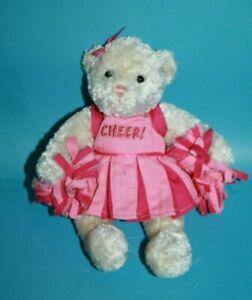 GUND-Jacqueline-Cheerleader-Teddy-Bear-8-034-Pink-Mini-Stuffed-Plush-Soft-Toy-15119