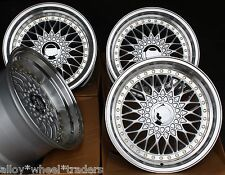 "16"" SILVER RS ALLOY WHEELS FITS 5X100 AUDI VW CRYSLER SEAT SKODA TOYOTA"