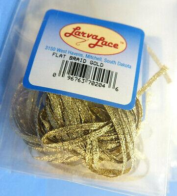 Top Preis /& Material  GELB FLAT BRAID 4 Meter Larva Lace U.S.A