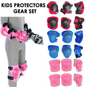 Set-of-6-Children-Protective-Pad-Kids-Wrist-Elbow-Knee-Protectors-Gear-Set-UK