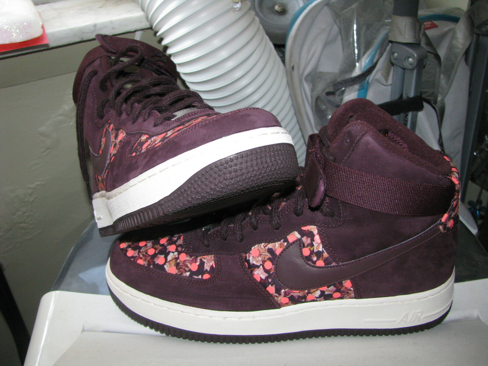 NIKE AIR FORCE 1 HI LIB QS Womens LIBERTY OF LONDON Doernbecher Burgundy Sz 11