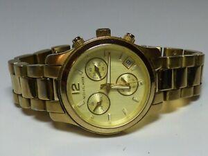 Michael-Kors-Runway-MK5384-Mini-Chronograph-Gold-Tone-Women-039-s-Watch