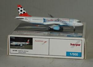 Herpa-501936-Airbus-A320-214-Austrian-Airlines-OE-LBU-in-1-500-Scale