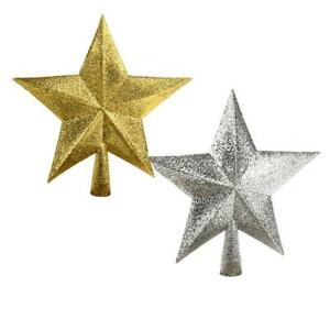 Details About Sparkle Star Tree Topper Silver Gold Christmas Decoration Tree Top Star