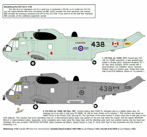 Belcher Bits BD28 Canadian Naval Helicopters 1//48 scale decal