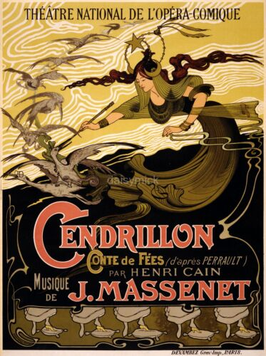 Massenet Cendrillon National Opera Theatre Paris 10x8 Inch Reprint Poster