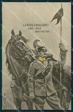 Militari IV Reggimento Genova Cavalleria Lancieri Bricchetto cartolina XF2027