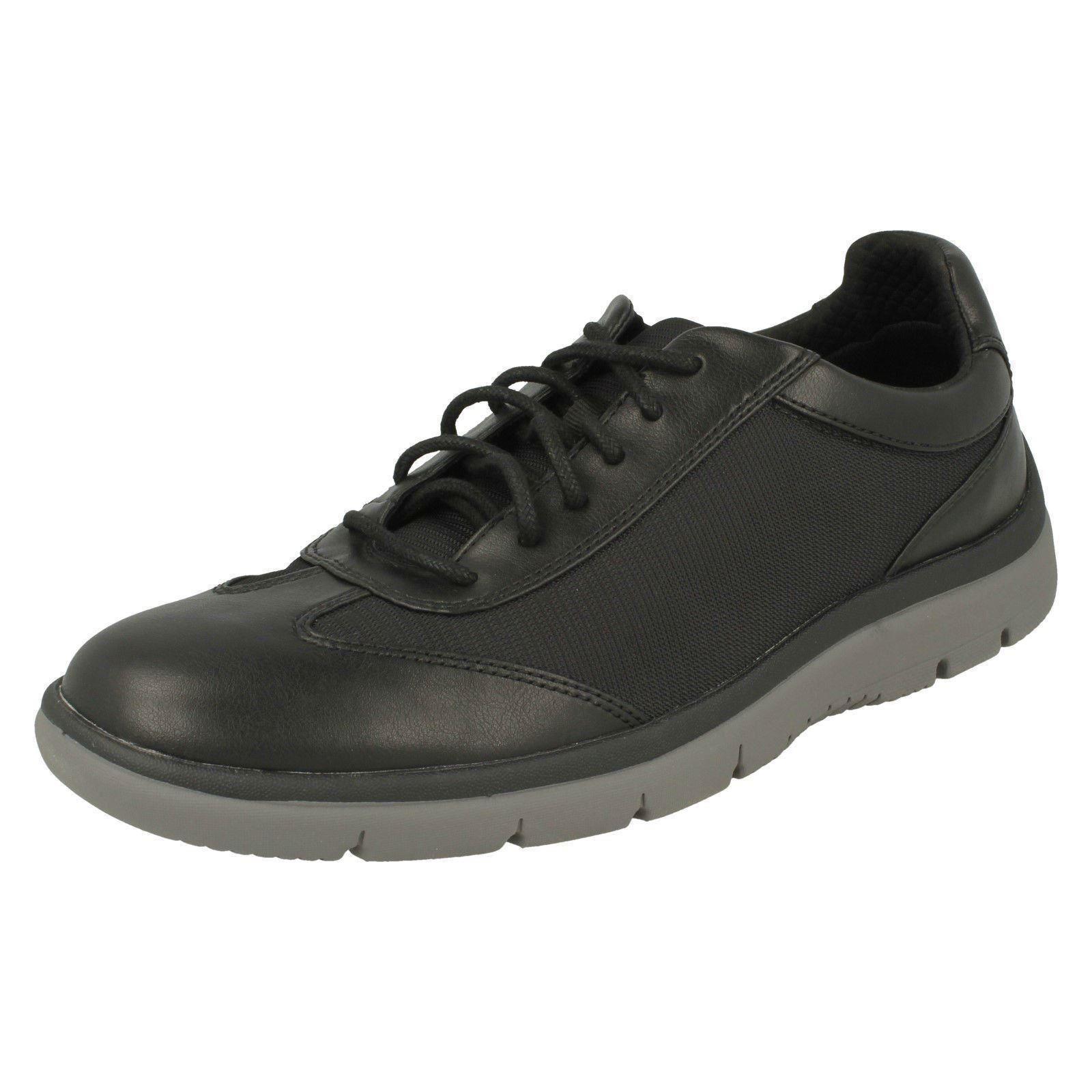 Hombre Clarks Cloudsteppers Tunsil Ridge Zapatos Casual con Cordones Cordones Cordones Ajuste G 63eae5