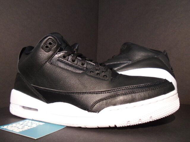 2018 Nike Blanco Jordan 3 Retro III Air Cyber Lunes Negro Blanco Nike 136064-020 Nuevo Original 8.5 0e2262
