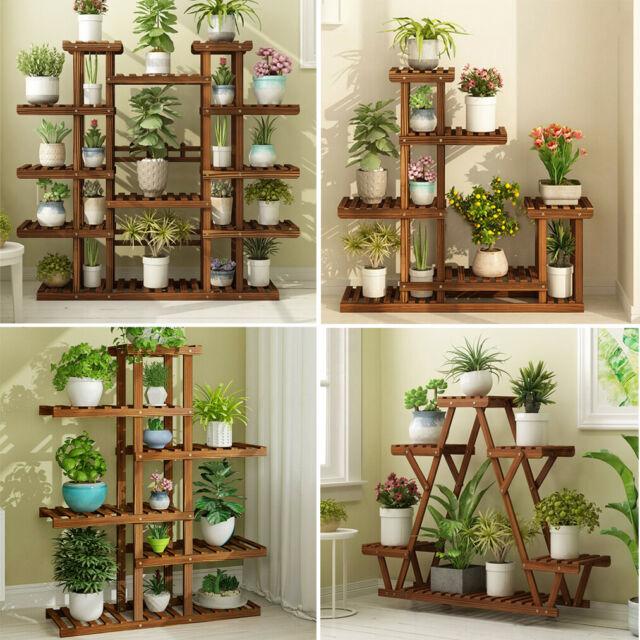Oakland Living Corner Shelf Plant Stand Black For Sale Online Ebay