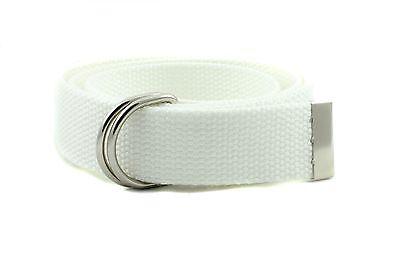 "D Ring Webbed Cotton canvas Belt School Uniform Boys, Girls, Men, Women 1.25"""