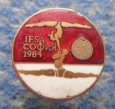 WORLD CHAMPIONSHIPS SPORTS ACROBATICS GYMNASTICS BULGARIA SOFIA 1984 PIN BADGE