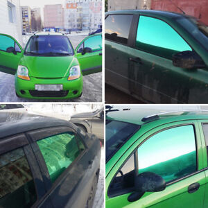 Plated Green Side Front Rear Window Tint Car Solar Film