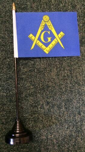 Freemason Hand or Table Flag Masonic Freemasonic Mason Craft Lodge Temple bn