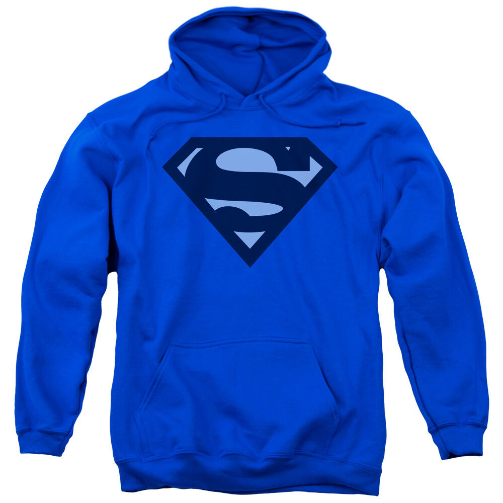 Superman blueE SHIELD Licensed Adult Sweatshirt Hoodie