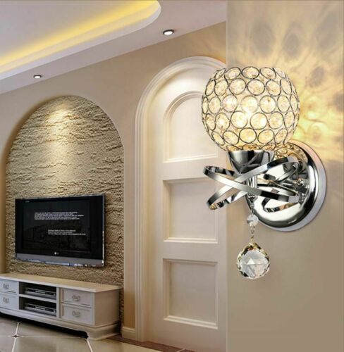 E14 Wall Sconce Crystal Wall Light Simple And Creative Bedroom Bedside Wall Lamp