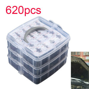 620Pcs-Set-Universal-Coche-Clip-De-Lado-Falda-Parachoques-Puerta-Ajuste-instalar-Sujetador-Push