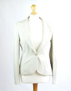 Womens-Ivory-Suit-Jacket-12-MNG-Polyester-Regular-Hip-Length-Plain