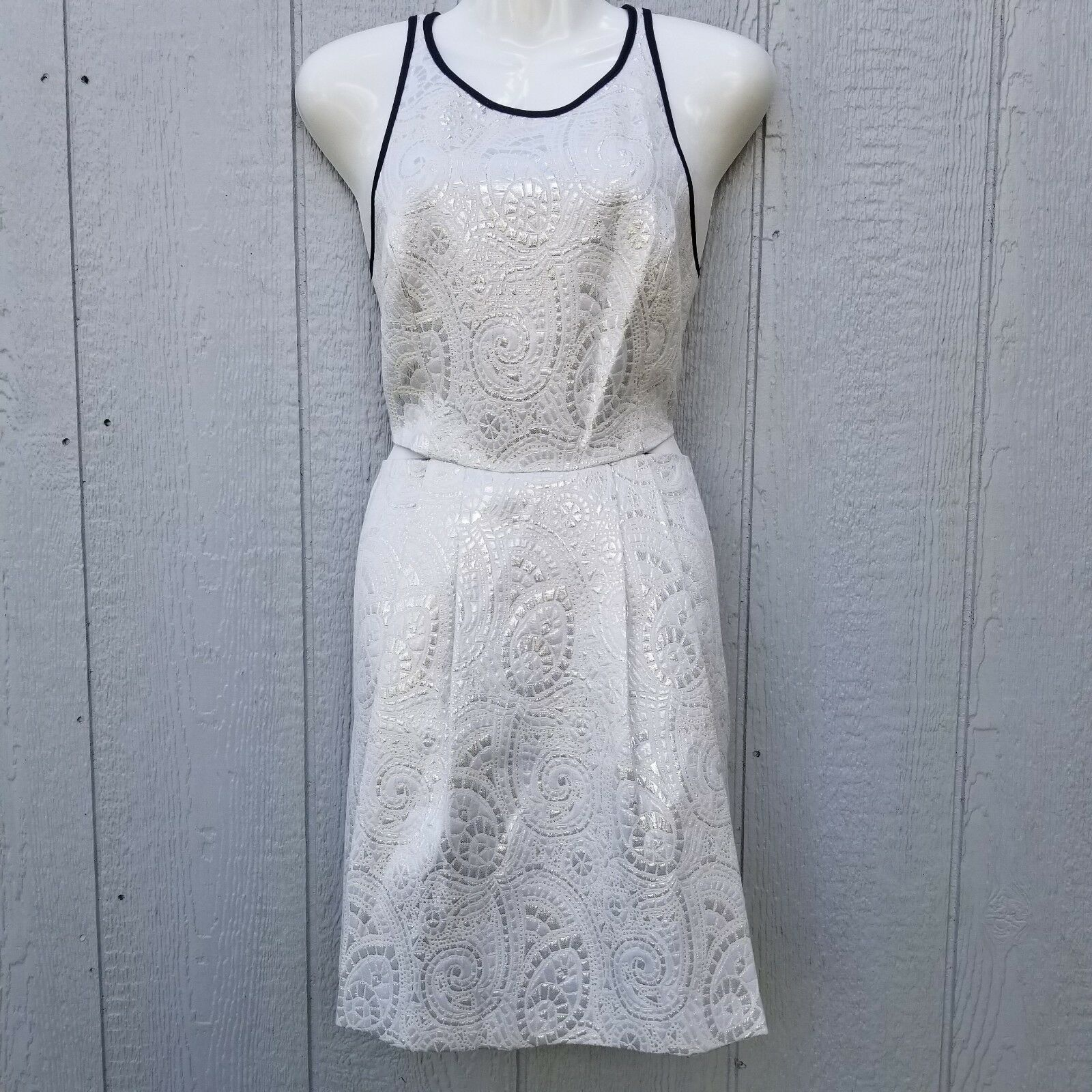 BCBGeneration Women's Dress Size 10 Cotton Halter Cutout NWT