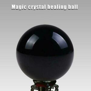 40MM-Natural-Obsidian-Sphere-Black-Rare-Crystal-Ball-Gemstone-Healing-Stone-S5Z0